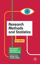 Research Methods and Statistics by Ian Walker (Paperback, 2010) PSYCHOLOGY