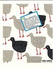 "Swedish Dishcloth ""Hens""  New Made in Sweden, Malin Westberg design, 6.75"" X 8"""