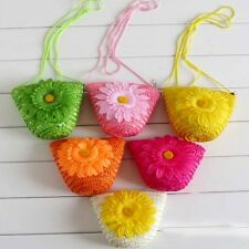 Women Lady Girl Beach Sunflower Straw Tote Handbag Clutch Single Shoulder Bag LG