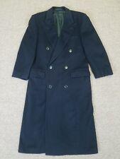 Hugo Boss Dark Blue Long Soft Virgin Wool Jacket Coat Mens Double Breasted