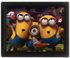 NEW 3D MINIONS PARTY LENTICULAR DIMENSION BOX PICTURE FRAMED DESPICABLE ME