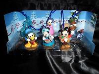 Disney Mickey's Christmas Carol 6  Ornaments Set Scrooge Minnie Goofy Donald NEW