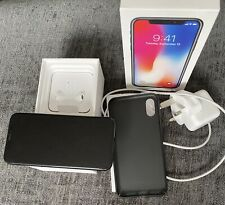 iPhone X - 256gb Boxed - Black - Unlocked - Excellent Condition - Plus Extras