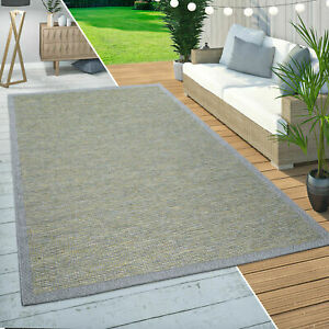 Sisal Solid Rugs Flatwave Green Patio Terrace Kitchen Rug Braided Large Mats