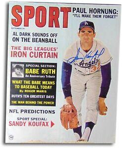 Sandy Koufax Signed Autographed 1963 Sport Magazine Dodgers Blue Ink JSA AA84573