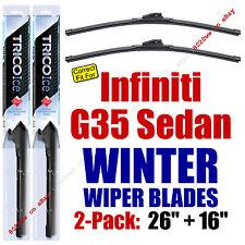 WINTER Wiper Blades 2pk Super-Premium fit 2007 Infiniti G35 Sedan 35260/160