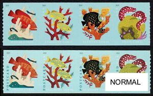 #5370a Coral Reefs, AQUA COLOR OMITTED, New Error as seen in Linn's 2/22/2021