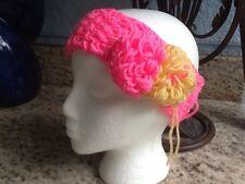 HANDMADE By Abril Creations Head-Wrap Hair-Band Ear-Warmer In Pink
