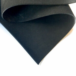 BLACK Suede Real Leather Sheets 8x10in/20x25cm 2oz/0.8mm Soft COAL BLACK 98