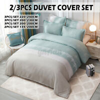 Floral Duvet Quilt Cover Warm Bedding Set + Pillowcase Single Double Kin