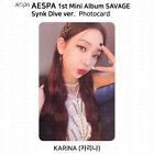 Aespa 1st Mini Album Savage Official Photocard Lenticular Card KPOP K-POP