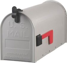 NEW SOLAR GROUP ST100000 SILVER GRAY HEAVY DUTY STEEL STANDARD RURAL MAILBOX