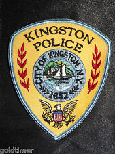 VINTAGE  CITY OF KINGSTON   1652  POLICE   NEW YORK  NY POLICE PATCH