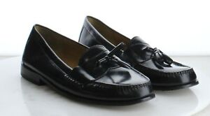 V15 Preowned $160 Men's Size 11.5D Cole Haan Pinch Tassle Moccasin in Black