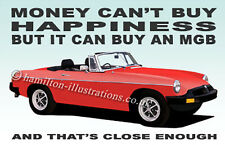 MG MGB Roadster Rubber Bumper illustration Novelty Fridge Magnet