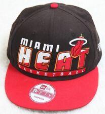 New Era Hardwood Classics Miami Heat Basketball Hat Cap Snapback Cotton Adult