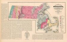 1871 Geological Map of Massachusetts