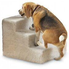 Three 3 Step Stairs Pet Dog Cat Soft Covered Staircase Doggy Steps Indoor New
