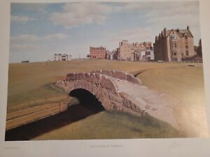 GRAEME W.BAXTER St Andrews, old course ART PRINT SIGNED 1988 Golf Scotland