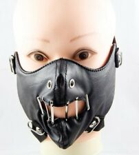 Punk Hip-Hop Gothic Steampunk Leather Unisex Lady Men Fashion Face Mouth Masks