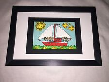 "James RIZZI: Original Farblithographie ""COME SAIL AWAY"", 3D Vorlage, gerahmt"