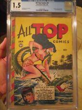 ALL TOP COMICS #9 CGC 1.5 Scarce Fox Jack Kamen Cover Phantom Lady by Matt Baker