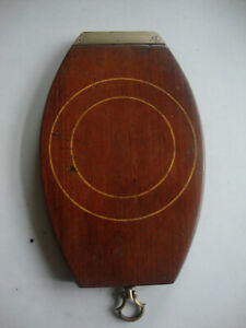 Antique Georgian travelling campaign inlaid mahogany brass shaving mirror