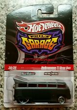 2010 Hot Wheels Phil's Garage Volkswagen T1 Drag Bus 30/39 Black & Gray