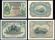 Facsimil Serie 500-1000 pesetas de Julio 1907 - Reproductions