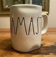 Rae Dunn Magenta NAMASTE Mug Coffee Tea Large Letter NWT
