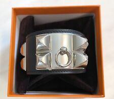 NEW HERMES CDC Collier De Chien Bracelet NOIR BLACK PALLADIUM HW BIRKIN KELLY