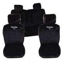 New Thick Protective Car Seat Covers Protectors Universal Fit Black Full Set F&R