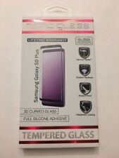 ZNITRO Tempered Glass Screen Guard For Samsung Galaxy S9+, Full Adhesive, Black