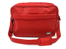 """Amelia Earhart Womens Shoulder Bag Red Carry On Luggage 15"""" x 11"""" Vintage"""