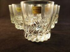 SiX LUMINARC Rock Glass Diamond Cut Glasses Barware Scotch Made in France 9 oz