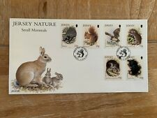 Jersey 1999 Fdc Mammals Hedgehog Squirrel Pipestrelle Bat Vole Shrew Mole