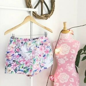 NWT Forever 21 Sz Small Pastel Floral Kawaii High Waisted Cute Shorts