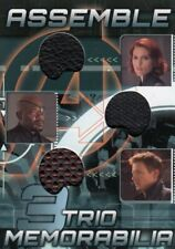 Avengers Assemble AT-13 Trio Memorabilia Relic Card Black Widow, Fury, Hawkeye