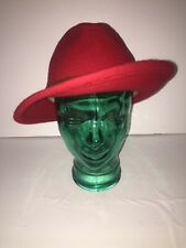 Eddie Bauer Solid Red Men's Fedora Hat Sz Medium