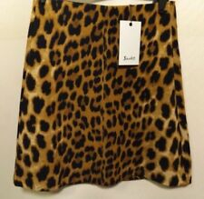 Animal Print Hand-wash Only Mini Skirts for Women