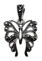 Schmetterling Markasit Anhänger Jugendstil 925er Silber Symbol Schmuck - NEU