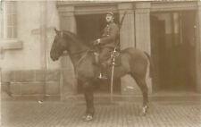 Belgian army cavalry soldier horse sword rifleman uniform vintage photo postcard