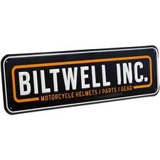 Biltwell Logo Metal Shop Garage Workshop  Rectangle Sign - Black/Yellow