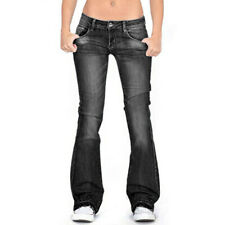Women Bootcut Jeans Stretch Denim Long Pants Ladies Low Waist Flared Trousers US