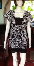 Black And White Floral Patterned Dress With Back Detail From Billabong Medium
