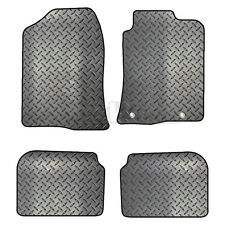 Toyota Avensis 2003-2009 Tailored 4 Piece Rubber Car Mat Set 2 Round Clips