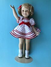 """Vtg New Danbury Mint & Ellie Hutchens 14"""" Shirley Temple , """"Stand Up & Cheer"""""""