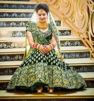 Tradicional Boda Ropa Indio Fiesta Lengha Diseñador Bollywood Lehenga Choli