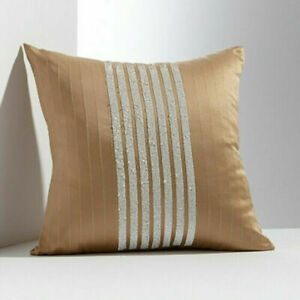 New Simply Vera Wang Modern Stripe Sequin Decorative Pillow Size 16 x 16