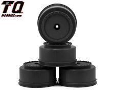 DE Racing DERBS4AB 12mm Hex Borrego Short Course Wheels w/3mm Offset Black SC5M